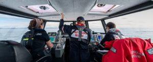 Crew on lifeboat