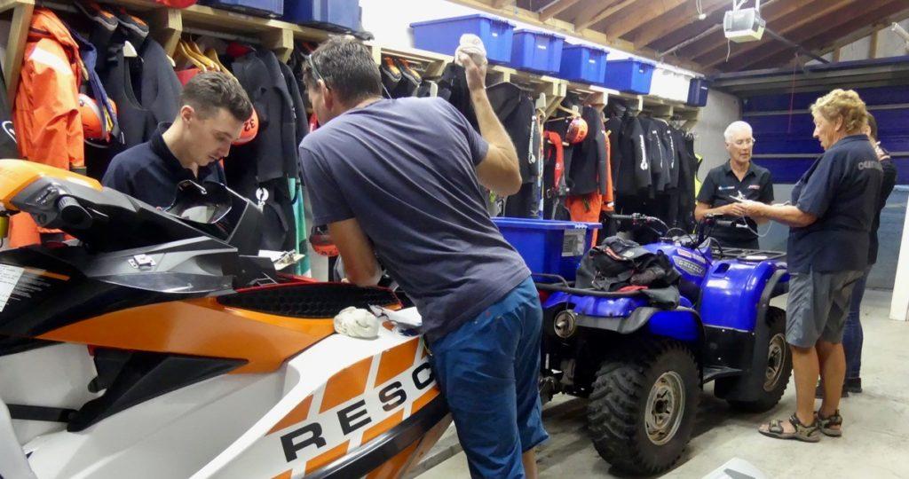 Checking gear